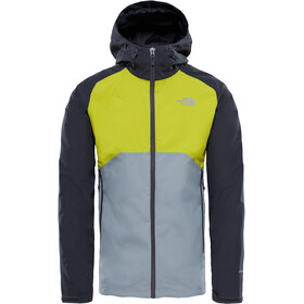 The North Face Stratos Jacket Men Asphalt Grey/Citronelle Green/Mid Grey